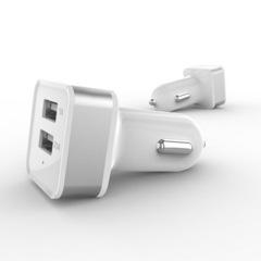 АЗУ YZS-3 USB 5V (2.1A+1A) silver