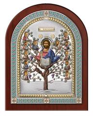 Серебряная икона Древо Жизни в рамке