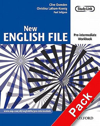 9780194387675 - New English  File Pre-intermediate:  Workbook with key and MultiROM Pack