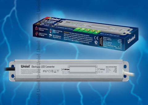 UET-VAJ-030A67 Блок питания для светодиодов с защитой от короткого замыкания и перегрузок, алюминиевый корпус, 30Вт, 12В, IP67