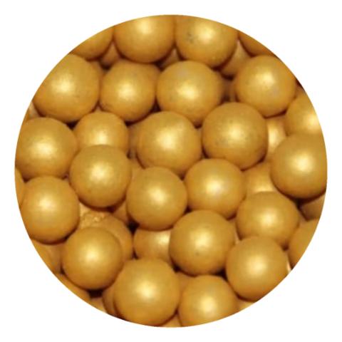 Попытка шарики золотые 10мм, 25г.