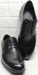 Свадебные мужские туфли из кожи Ikoc 3416-1 Black Leather.