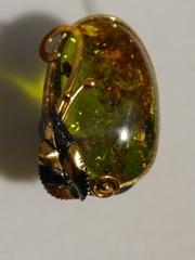 Оазис (серебряное кольцо с позолотой)