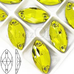 Стразы пришивные желтые Lemon, Navette купить оптом дешево