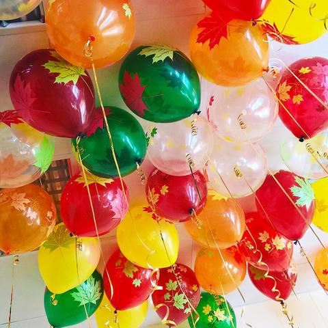 Воздушные шарики Кленовые листья