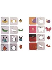 Развивающая игра-пазл SHAPES PUZZLE Насекомые Серия Угадай Кто Я Такой 24 детали в жестяной коробке