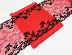 Набор №3 Для пошива бюстгальтера с поролон чашкой и трусиков. Красный и черный (Арт: EK-1014), шт