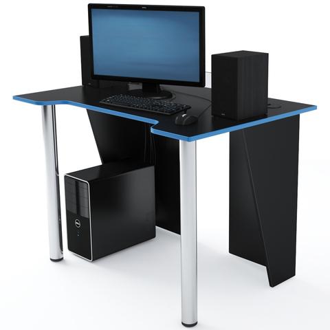 Стол Компьютерный LevelUP 1100 Черный/Голубой