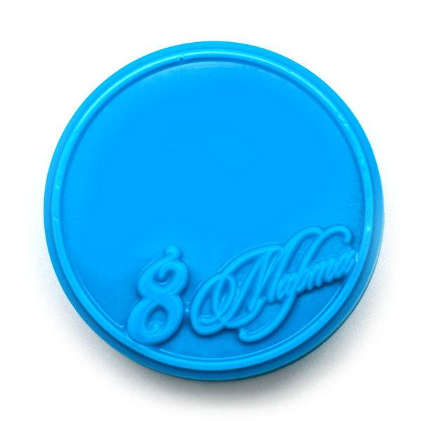 Круглая форма для мыла 8 Марта