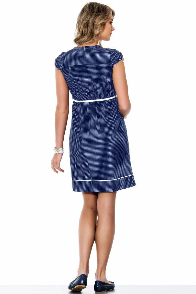 Платье для беременных 05545 горох