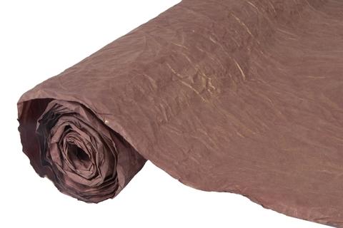 Бумага жатая эколюкс 70см х 5м шоколадный/золото 19G