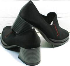 Модные осенние туфли женские черные на каблуке 6 см H&G BEM 167 10B-Black.