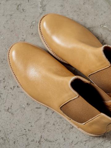 Ботинки Челси из натуральной кожи бежевый