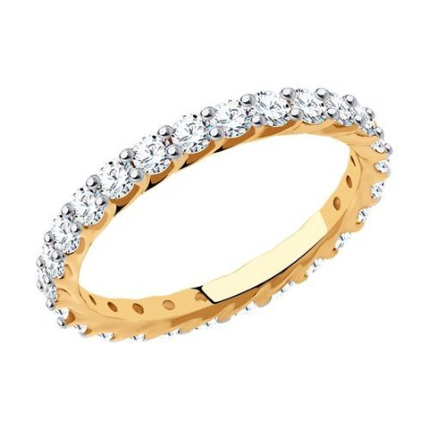 81010490 - Кольцо-дорожка из золота с фианитами Swarovski
