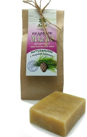 КЕДРОВОЕ для детской и чувствительной кожи. Оливковое натуральное мыло 80 г