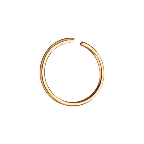 Кольцо для пирсинга в нос 10 мм (лимонное золото)