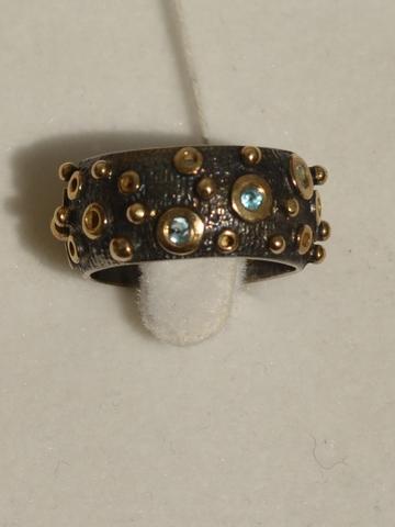 Анива (кольцо из серебра с позолотой)