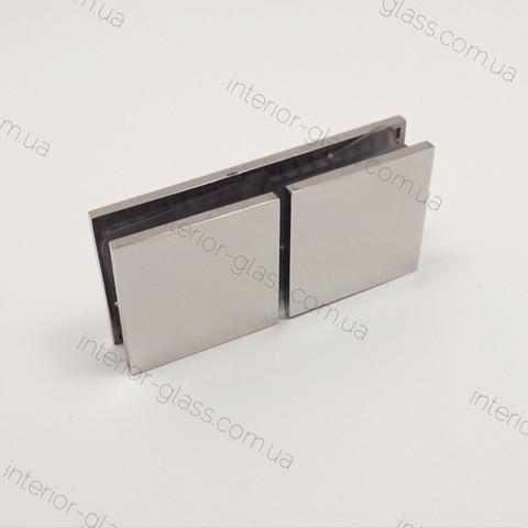 Соединитель стекло-стекло 180 град. HDL-724 PSS литой нерж. сталь