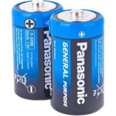 Батарейки Panasonic R20, D (2/24/120)