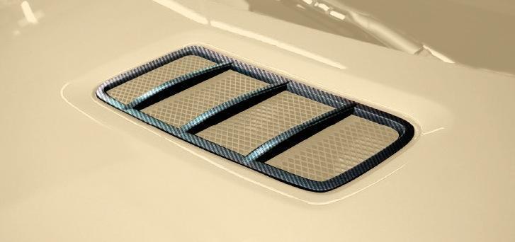 Карбоновые решетки на капот 63 AMG Style для Mercedes GL-class X166