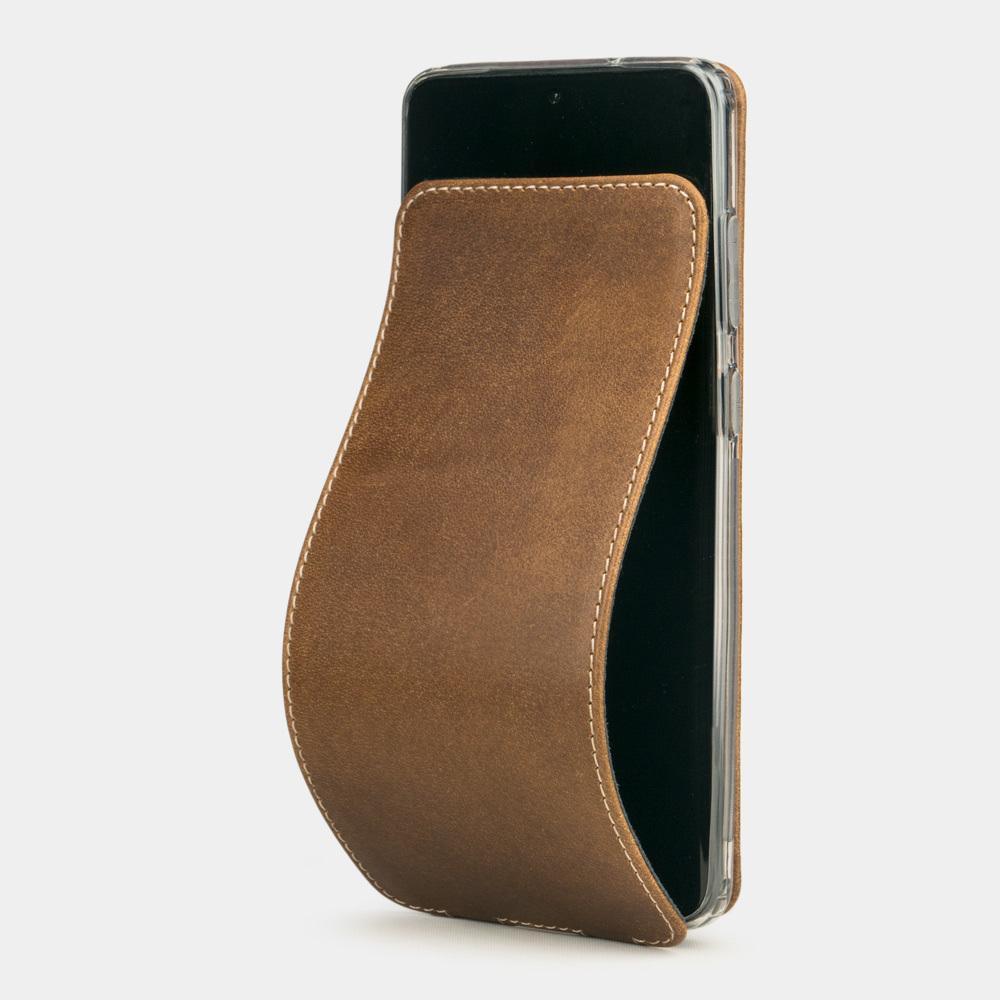 Чехол для Samsung Galaxy S20+ из натуральной кожи теленка, цвета винтаж