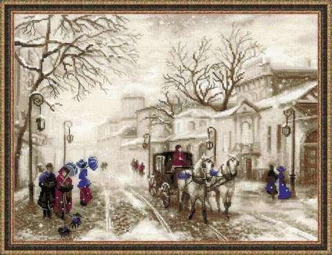 Набор для вышивания крестом «Старая улочка» (1400)