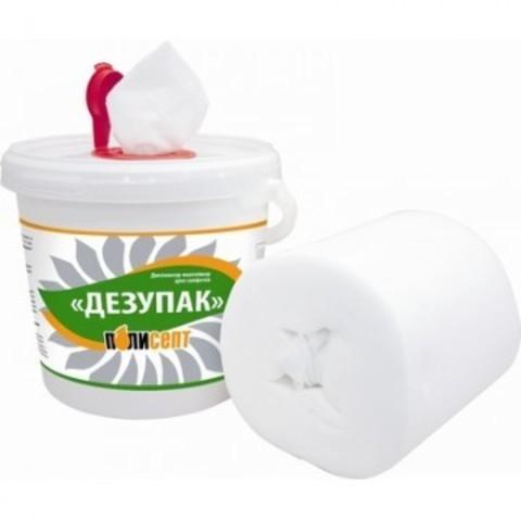 Салфетки дезинфицирующие Дезупак рулон в диспенсере-контейнере (100 штук)