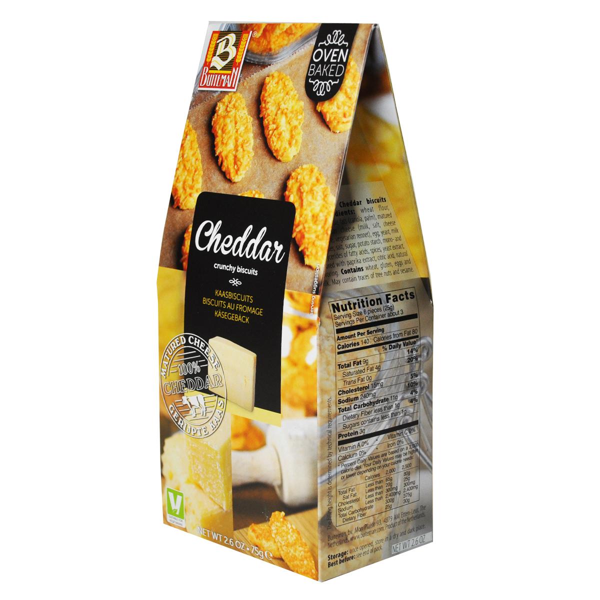 Печенье Buiteman с сыром Чеддер 75г