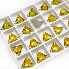 Купить оптом пришивные стразы Topaz желтые в интернет-магазине
