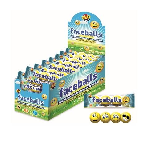 ZED Faceballs жевательная резинка с принтом, 1кор*12бл*30 шт, 17гр