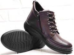 Кожаные ботинки женские демисезонные Evromoda 535-2010 S.A. Dark Brown.
