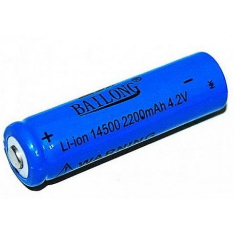 Аккумуляторы 14500 Bailong 4800mAh (Li-ion) blue