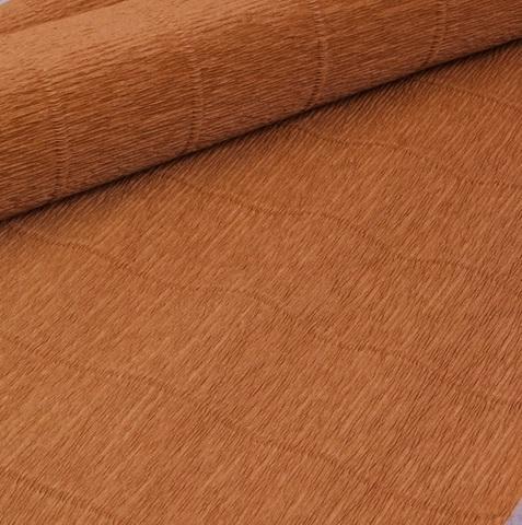 Бумага гофрированная, цвет 967 светло-коричневый, 140г, 50х250 см, Cartotecnica Rossi (Италия)