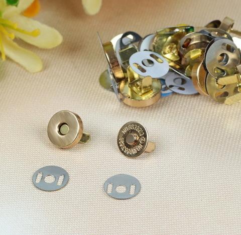 Магнитная кнопка 15 мм, золото