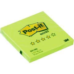 Стикеры Post-it Original Весна 76x76 мм неоновые салатовые (1 блок, 100 листов)