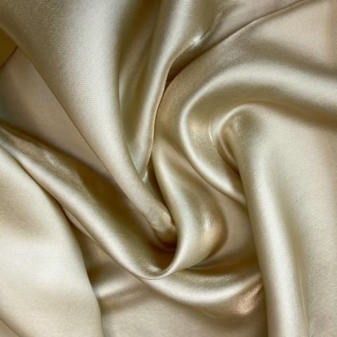 Ткань тафта шелковая золотой цвет 1164