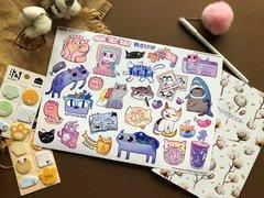 Набор стикеров PACK CATS (A4)