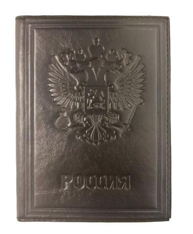 Обложка для автодокументов «Россия». Цвет коричневый