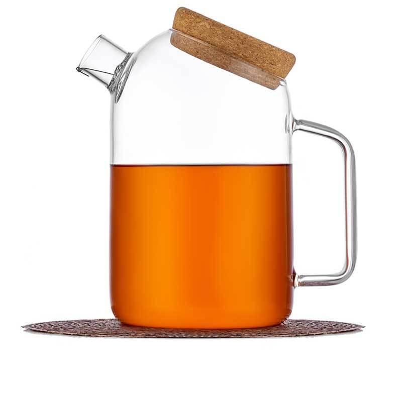 Чайники Бамбук Чайник заварочный стеклянный с фильтром и пробковой крышкой, 1,8 л chaynik_zavarochniy_steklyanniy_1-037-1200-teastar.jpg