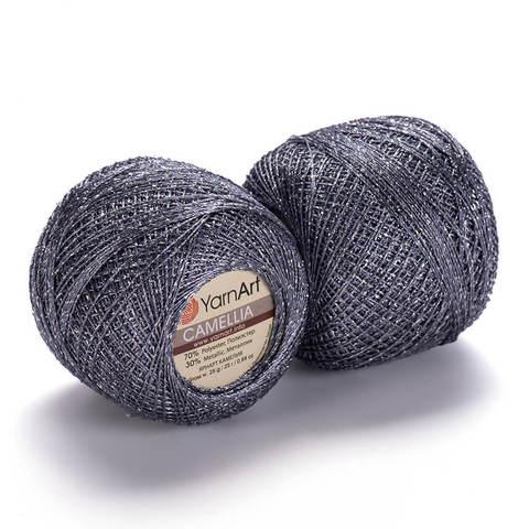 Пряжа Kamellia (Камелия) Серый с серебром. Артикул: 424