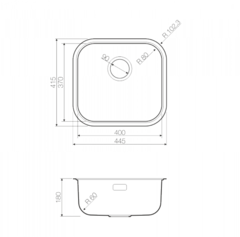Мойка Omoikiri Omi 44-GM - схема