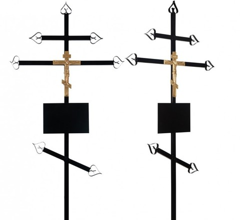Крест на могилу металлический