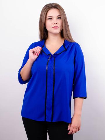 Вега. Оригінальна жіноча блуза плюс сайз. Електрик.