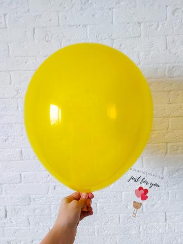Воздушные шары желтые кристалл
