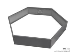 Клумба многоугольная оцинкованная 1 ярус RAL 7004 Сигнальный серый