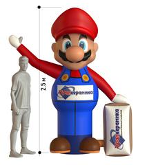 Рекламная фигура мультперсонажа