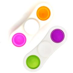 Пупырка вечная антистресс simple dimple (симпл димпл) спиннер двойной 1 шт белый