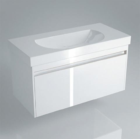 Тумба (1+1 ящик) с раковиной Kerama Marazzi Buongiorno 80 белый