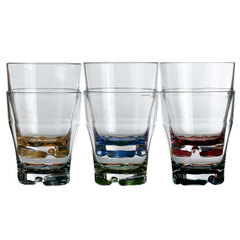 STACKABLE WATER GLASS – COLOURED BASE, PARTY