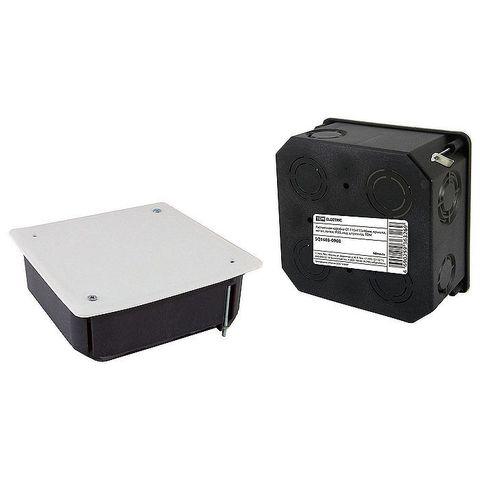 Коробка распаячная СП 115х115х45мм крышка метал.лапки TDM